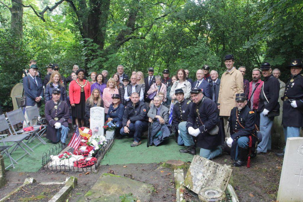 Attendees at George Denham's memorial dedication